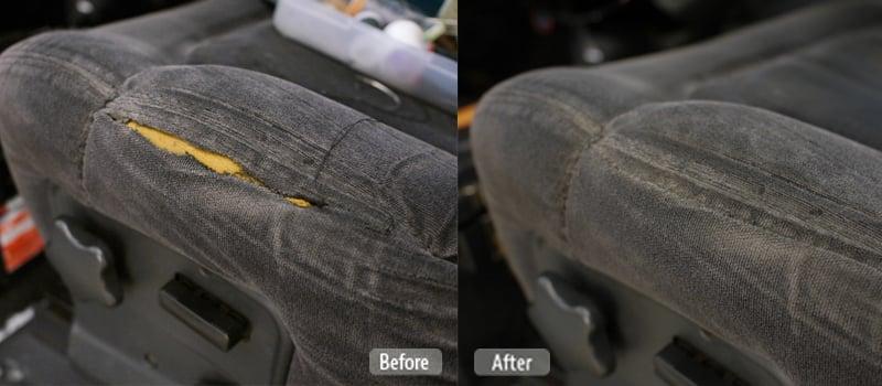Automotive Fabric Seat Repair