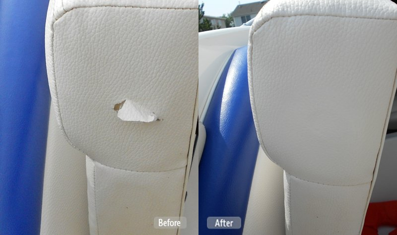 Photo boat seat damage repair fibrenew brisbane central for How to restore a boat interior