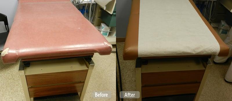 Damaged Medical Examination Table Restoration