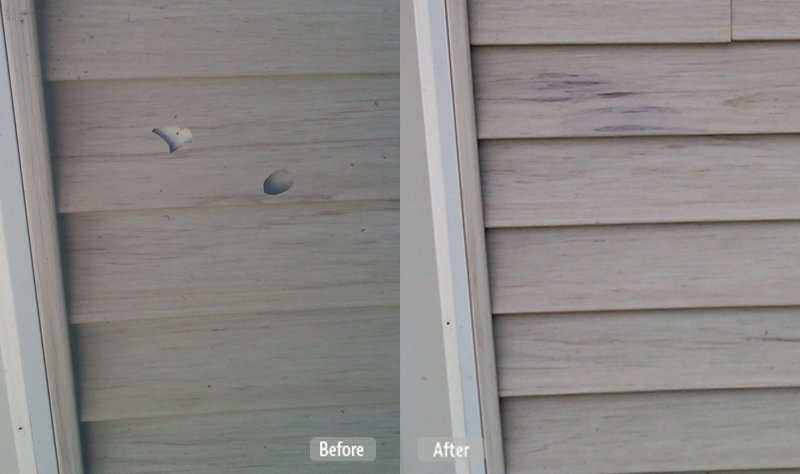 Damaged Vinyl Siding Repair