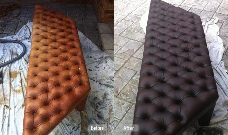 Leather footrest repair