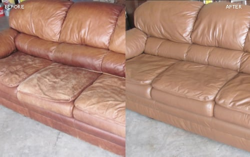 Photo: Leather Sofa Restoration - Fibrenew Westside (Portland)
