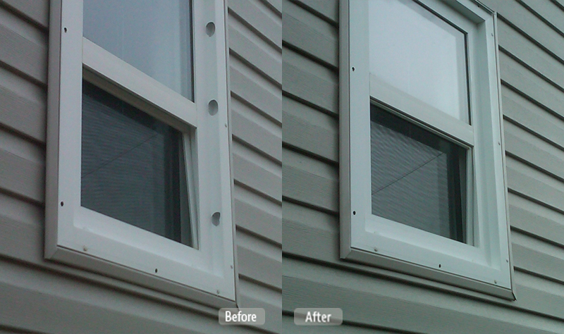 Damaged PVC Window Repair