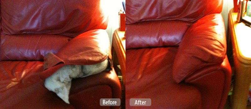 Photo Ripped Couch Cushion Repair Fibrenew Inland Empire