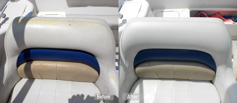 photo sun damaged boat seat repair fibrenew south auckland. Black Bedroom Furniture Sets. Home Design Ideas