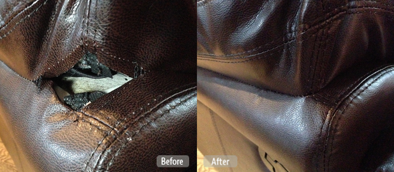 Photo Torn Seam Repair For Furniture Fibrenew Nelson