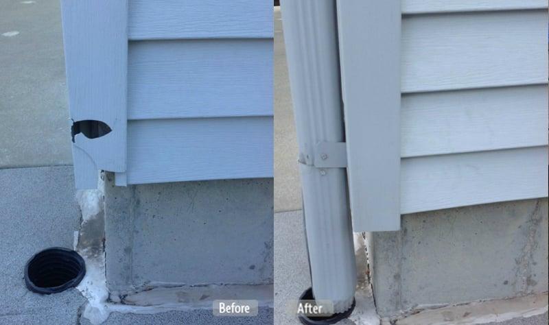 Vinyl Corner Post Repair