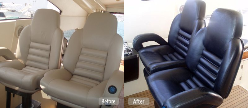 Yacht Captain Chair Re-Dye