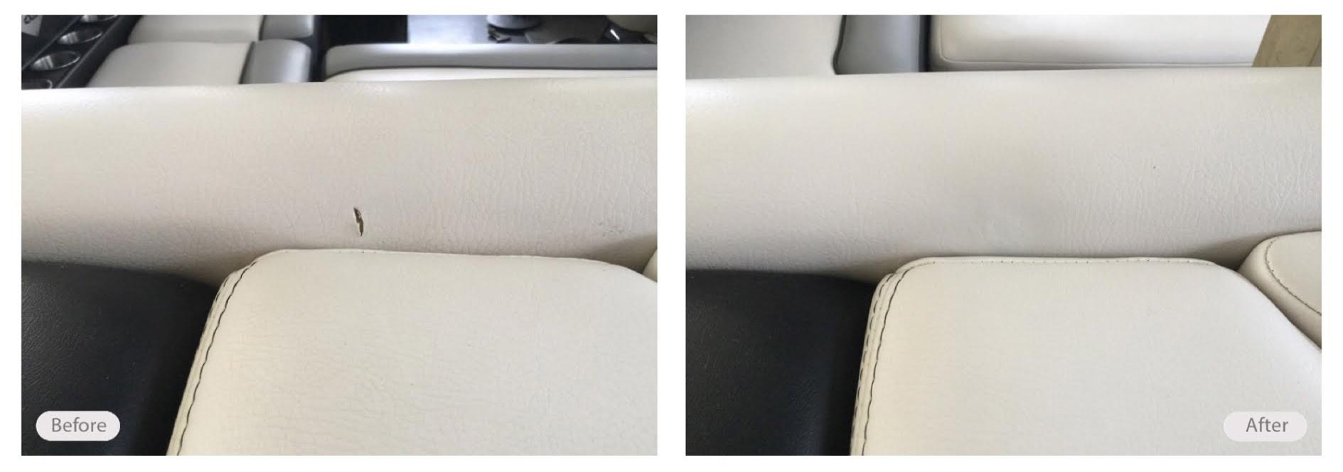 Holes, rips and burn marks in boat seats can be restored