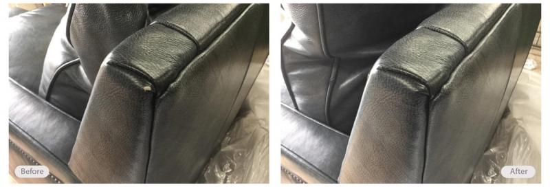 Moving damage repaired on this leather furniture