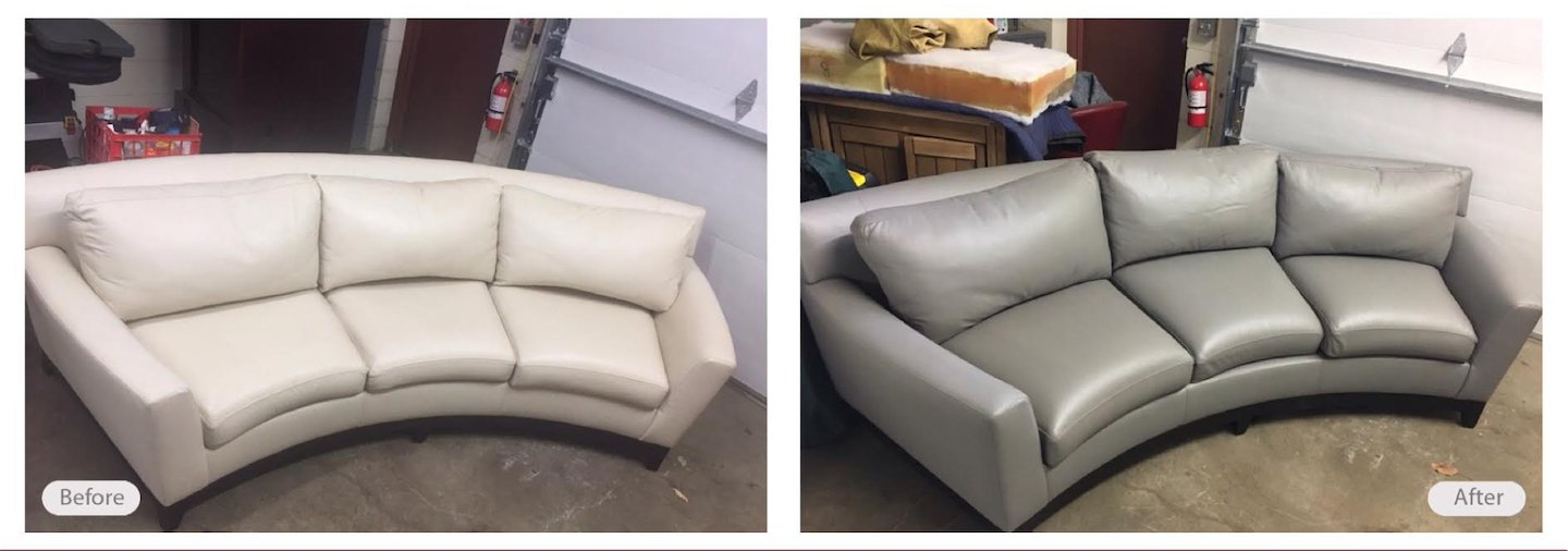 Home decor changes sometimes require a color change on leather furniture