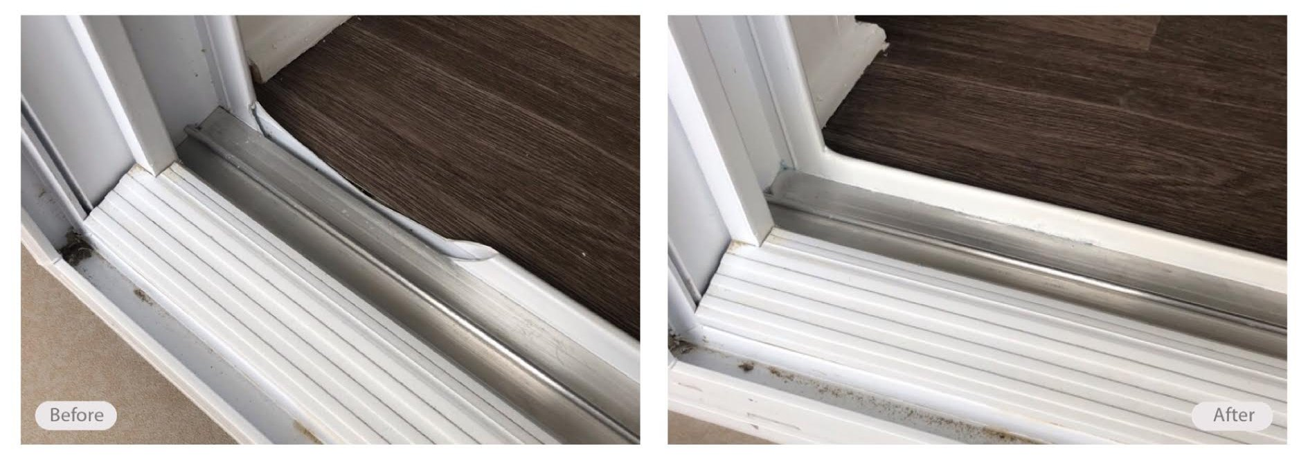 Plastic window casing repair done at a fraction of the cost of replacement