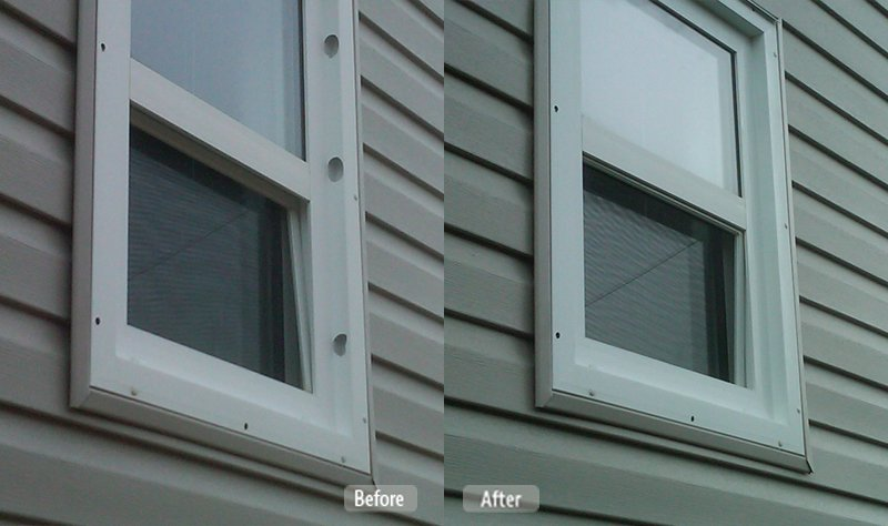Vinyl Siding And Window Casing Repair